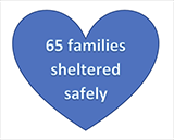 65 Families Sheltered Safely