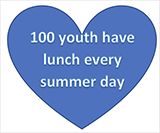 100 Youth Have Lunch Every Summer Day